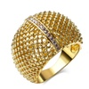 White Zircon Gold/Rhodium Plated Women Ring