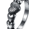 Silver Plated Multi Hearts Beaded Classic Design Ring