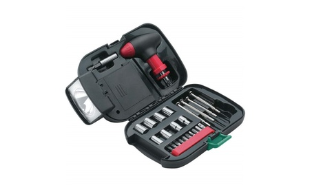 Maxam 25 pc SAE Tool Set and Travel Storage Case with Flashlight 9b2ee834-4110-4cc1-820c-89532595b56d