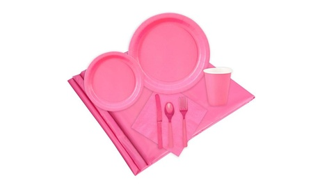 16 Guest Hot Pink Party Pack 6d474177-65d4-4eb0-aa5f-a4ae0ba1c199