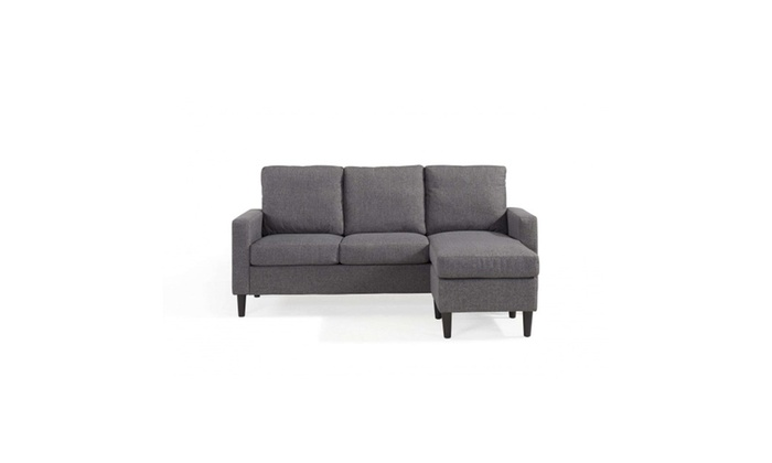 Mainstays Apartment Reversible Sectional, Heather Grey | Groupon