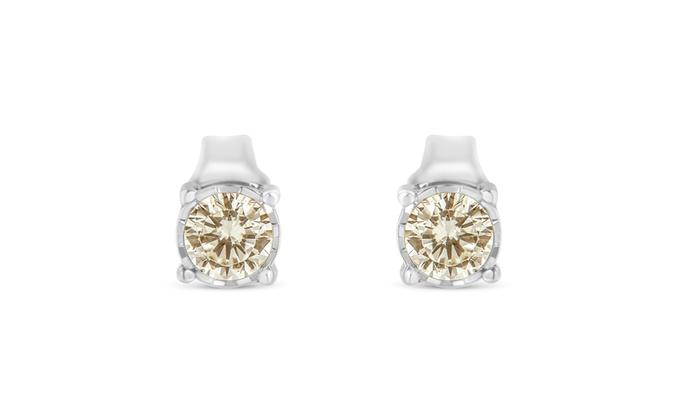 Sterling Silver 3 8ct Tdw Diamond Stud Earring K L