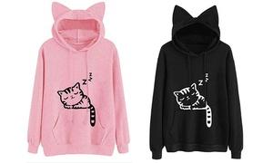 d63a0cea Women's Pocket Sweatshirt Cartoon Anime Kangaroo Pouch Carriers Hoodie  Pullover