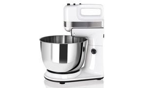 250W 5-Speed Stand Mixer w/ with Dough Hooks Beaters Steel Bowl