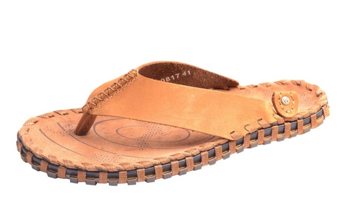 Men's Pull-ON Solid Leather Slippers