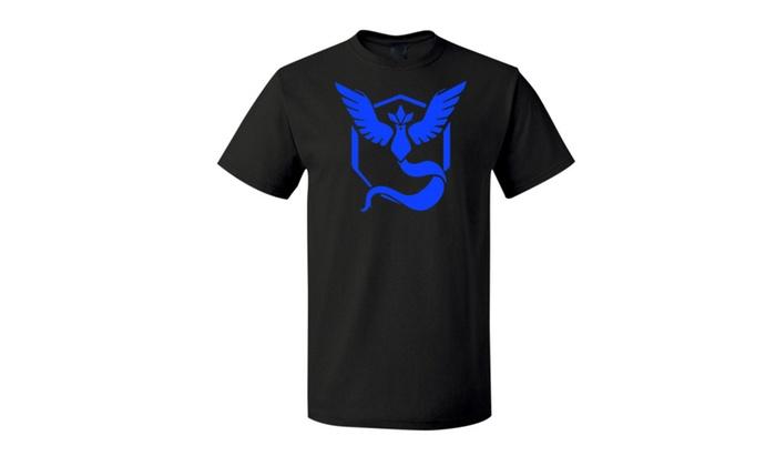 Pokemon Go Team Valor Team Mystic Team Instinct Pokeball nerd Black T