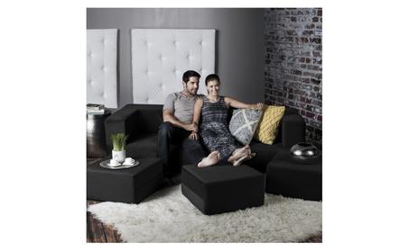 Jaxx Zipline Convertible Sleeper Sofa & Three Ottomans / Cali-King Bed 40828235-cd5c-4442-9260-2c8c8c184ad1