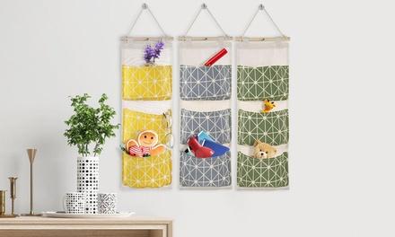 iMounTEK Home Decor Wall Mounted 3 Pocket Hanging Storage Bag Organizer
