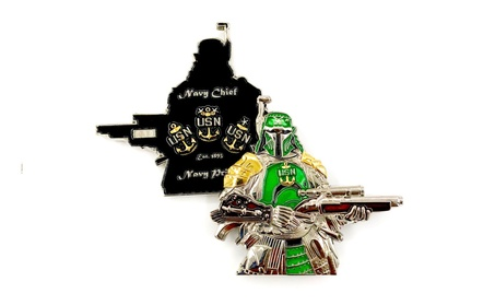 US Navy Ronin Samurai Star Wars Boba Fett CPO Challenge Coin 89f6f6d0-5458-4b04-b8de-e60c03f1027f
