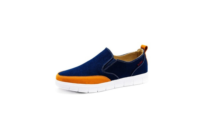 Men's Fashion Casual Splice Slip-on Boat Shoes