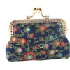 Vintage Flower Small Clutch Wallet for Women