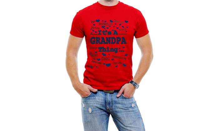 It's A Grandpa Thing Men T-Shirt Soft Cotton Short Sleeve Tee