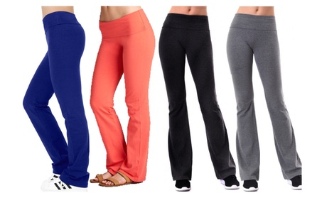 Full Length Cotton Active Pants with Folded Waistband 3c20e105-e68d-4ac1-aed0-ca165906b75f