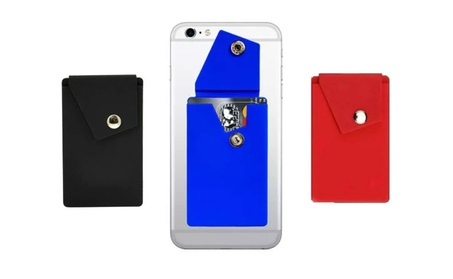 Universal Credit Card Phone Holder Wallet Case Adhesive Snap (3 Pack) bf5b36d8-71e1-41b3-881b-2cff49ae81c3