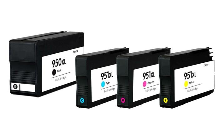 Compatible HP 950XL Black 951XL Color Ink Cartridges B C M Y