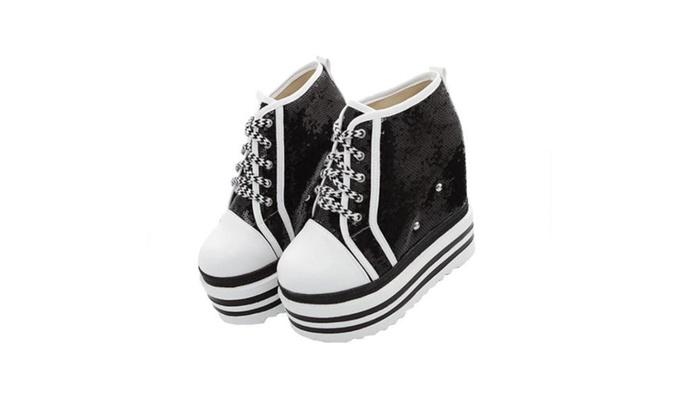 Women's PU Round Toe Platform Shoes