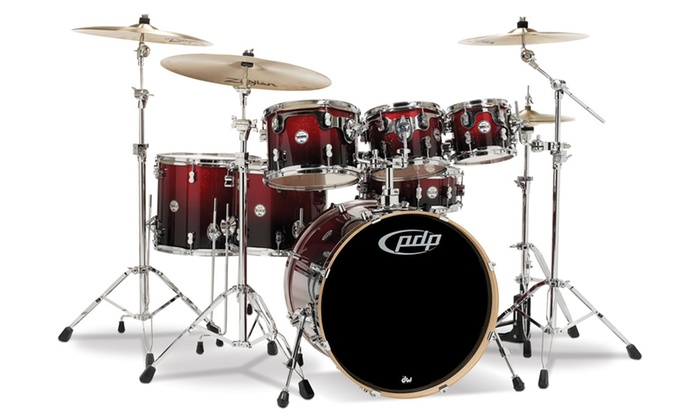 Pacific Concept Maple 7-Pc Shell Pack w/Hrdwre - Rd to Blk Sparkle