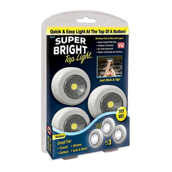 Super Bright Tap Light 6 Pack Wireless L And Stick Cob Led Lights Groupon
