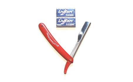 Single Edge old School Red Safety Razor + Blades Set 6a405eb6-b902-4f45-a5ae-bd40d7ea4a42