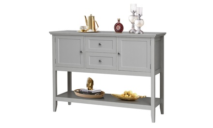 Costway Sideboard Buffet Table Wooden Console Table Cabinets