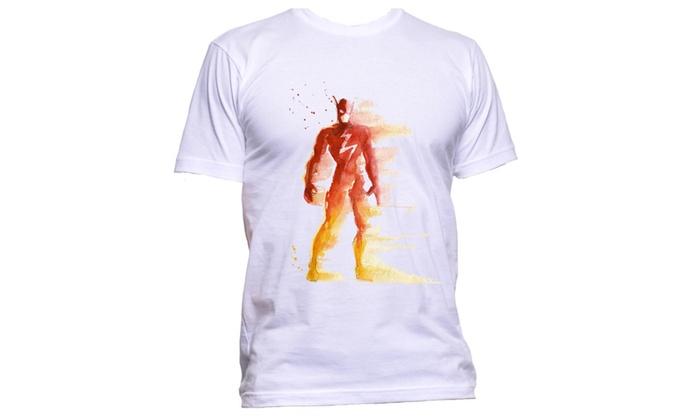 The Flash Superhero Inspired Watercolor Superhero T-Shirt