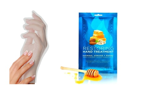 Restoring Miraculous Moisturizing Hand Gloves Almond Honey photo