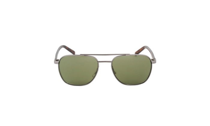 Sunglasses HD2012 08Q – Light Gunmetal/Havana Frame – Green Lens