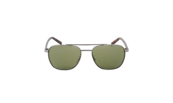 Sunglasses HD2012 08Q - Light Gunmetal/Havana Frame - Green Lens
