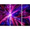 Pink and Purple Dreams Come True - Contemporary  Art - 48x28 - 4 Panel