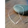 Sterling Silver Wire Thread-Thru Teardrop Earrings