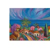 Manor Shadian Houses Under a Purple Sky Canvas Print