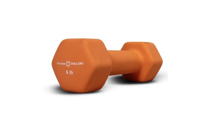 Fitness Republic Neoprene Coated Dumbbells Set (Hex Hand