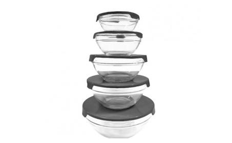 New High -Quality Black Bright Glass Bowl -10 Piece 659838e5-8f09-409a-835a-596d642b81c2