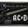 AC/DC Band Signed Guitar - Back in Black Themed in Framed Case COA