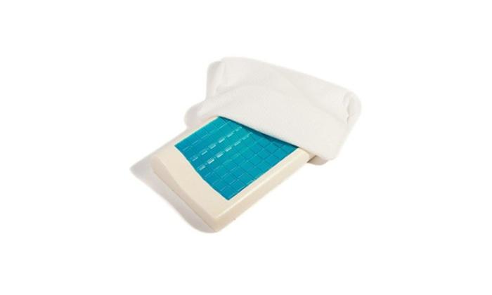 contour memory foam pillow cooling gel washable neck pain