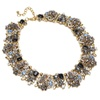 Vintage Retro Crystal Cluster Statement Necklace for Women