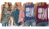 Haute Edition Women's USA American Flag 4th of July Casual Loose Fit Tanks