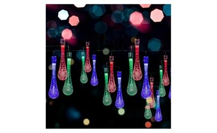 Solar LED Water Drop String Lights