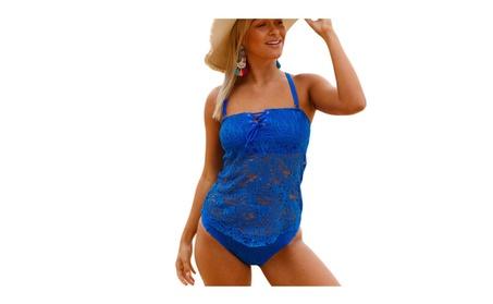 luvamia Women's Lace Crochet One-Piece Swimsuit Swimwear b3a147fd-6e16-4b75-8dfb-ca1e97f4c05f