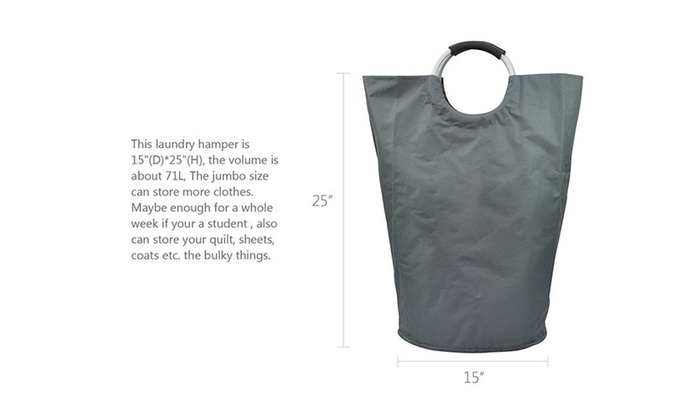 Collapsible College Laundry Bags For Heavy Duty Use With
