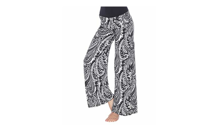 0c53a53f84be8d Up To 26% Off on White Mark Printed Palazzo Pa... | Groupon Goods