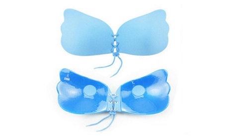 Women Strapless Self Adhesive Wing Shape Silicone Invisible Bra 1397099a-5eb2-4c22-9c0f-ac7392dc2ba7