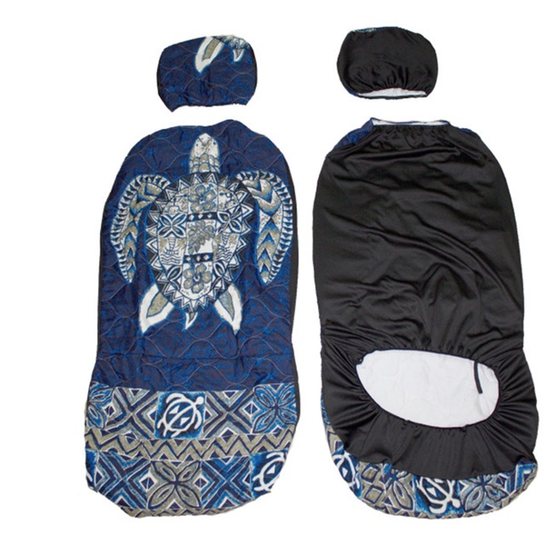 Swell Hawaiian Car Seat Covers With Separated Headrest Blue Big Turtle Uwap Interior Chair Design Uwaporg