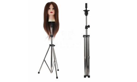 Adjustable Wig Head Stand Mannequin Tripod Hairdressing Training Holder