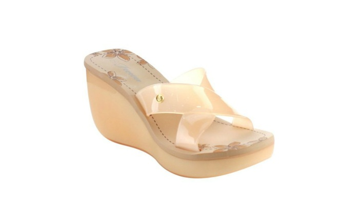 Women's slip on Jelly Wedge Heel