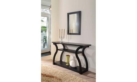 Zayna Curved Panel Multi Shelf Black Entryway Table 612fd6b5-d872-46b2-8734-8a2ed2adb7aa