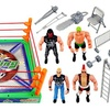 World Boxing King Wrestling Toy Figure Set w/ Ring, 4 Toy Figures, Accessories