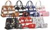 Marco Collection Simon Stripe Satchel Handbag with Wallet