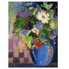 Sheila Golden Cobalt Vase with Purple Canvas Print