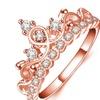 S925 Cubic Zirconia Tiara Women's Ring